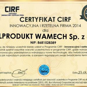 Cert Innow i Rzet Firma 2014